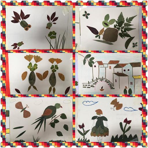 """系留住全系树叶会计专业以""""组织秋天的美丽""""为主题的学生画作品展v树叶景观设计幼师行业图片"""